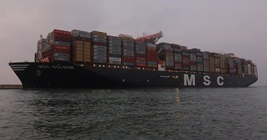 SCA - The World's Largest Container Vessel Transits the Suez