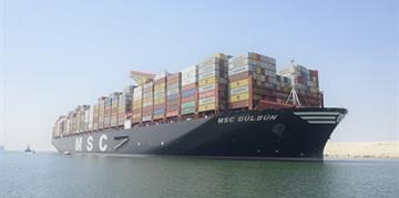 The World's Largest Container Vessel Transits the Suez Canal for the First Time​